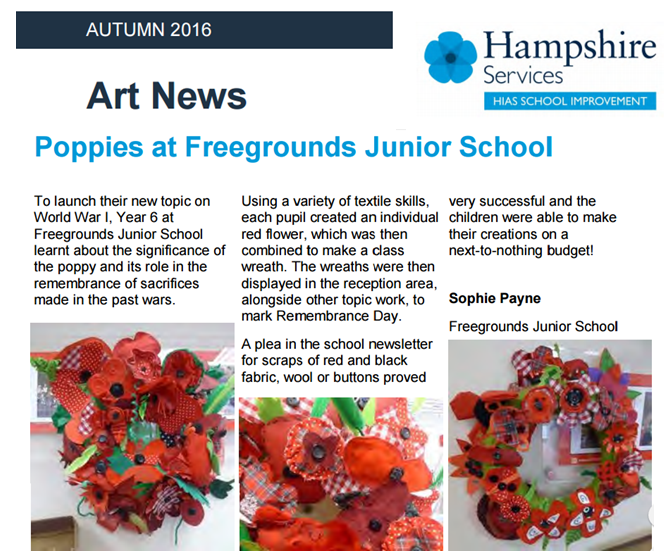 Hampshire Art Magazine Poppies